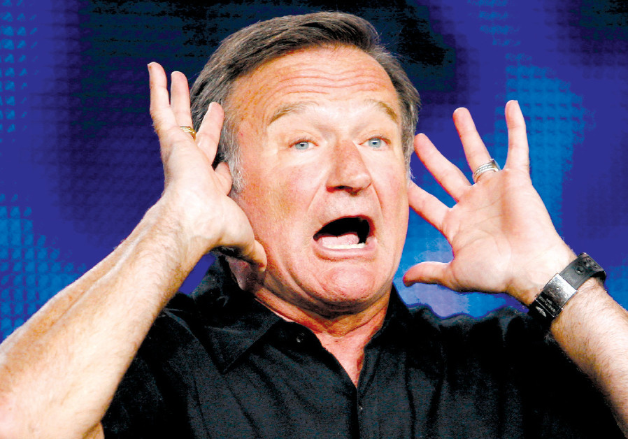 ROBIN WILLIAMS appears during a panel discussion for an upcoming HBO show in California in 2009