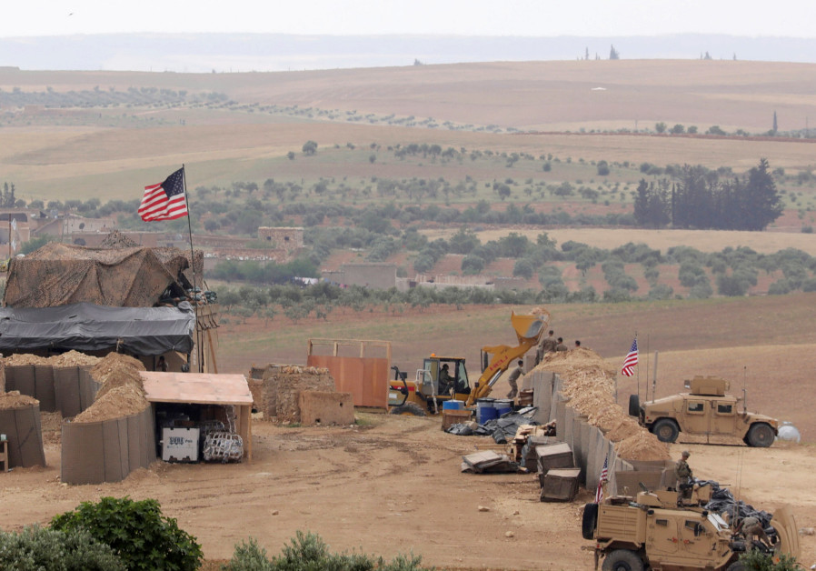 U.S. forces set up a new base in Manbij, Syria May 8, 2018. Picture Taken May 8, 2018