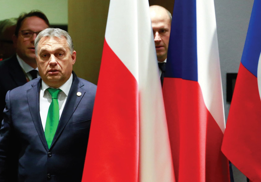 Hungary PM Orban visits Jerusalem Jewish shrine