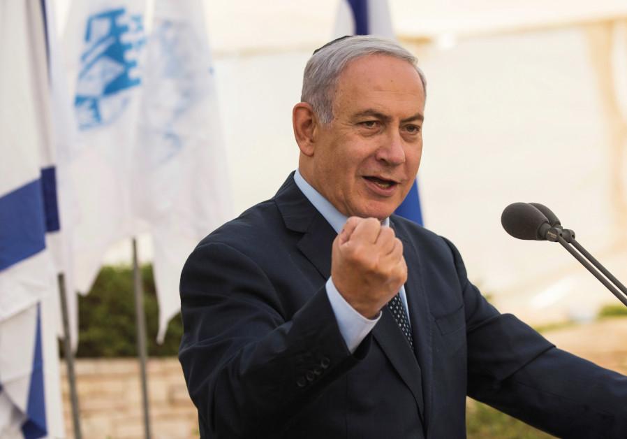 PRIME MINISTER Benjamin Netanyahu takes part in a memorial ceremony for the Altalena Affair.