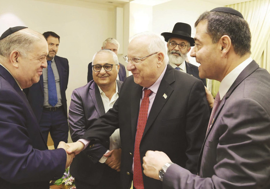 PRESIDENT REUVEN RIVLIN hosts a delegation from the Consistoire representing Jewish communities in F