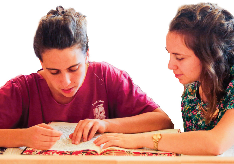 WOMEN LEARN in the beit midrash at Jerusalem's Midreshet Lindenbaum