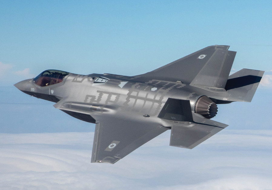 The F-35I Adir on its first flight with the Israel Air Force in December 2016