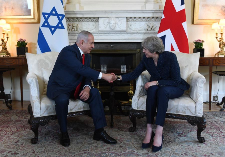 Prime Minister Benjamin Netanyahu meets with British Prime Minister Theresa May in London on Wednesd