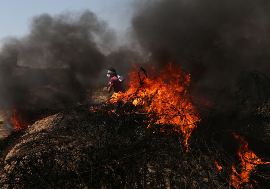 Unrest breaks out along the Gaza border - report