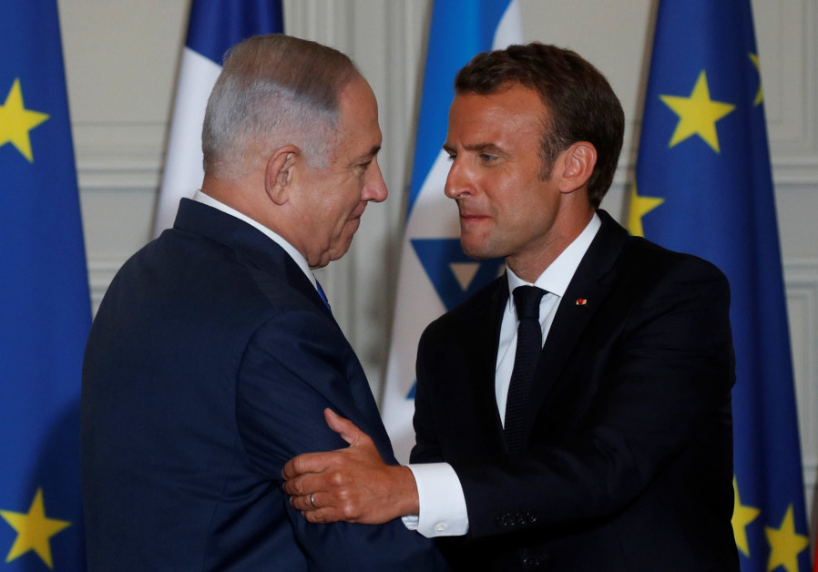 Macron congratulates Netanyahu on win, shares hope for two-state solution