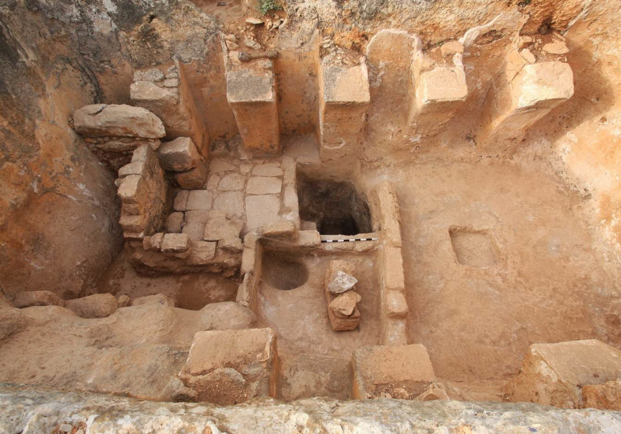 Byzantine wine press uncovered at Zippori National Park
