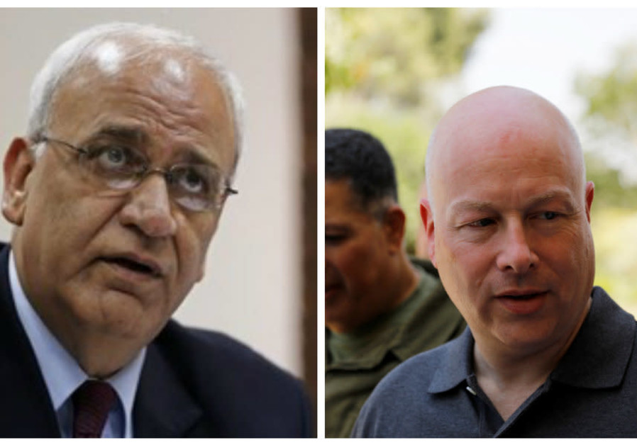 Saeb Erekat and Jason Greenblatt