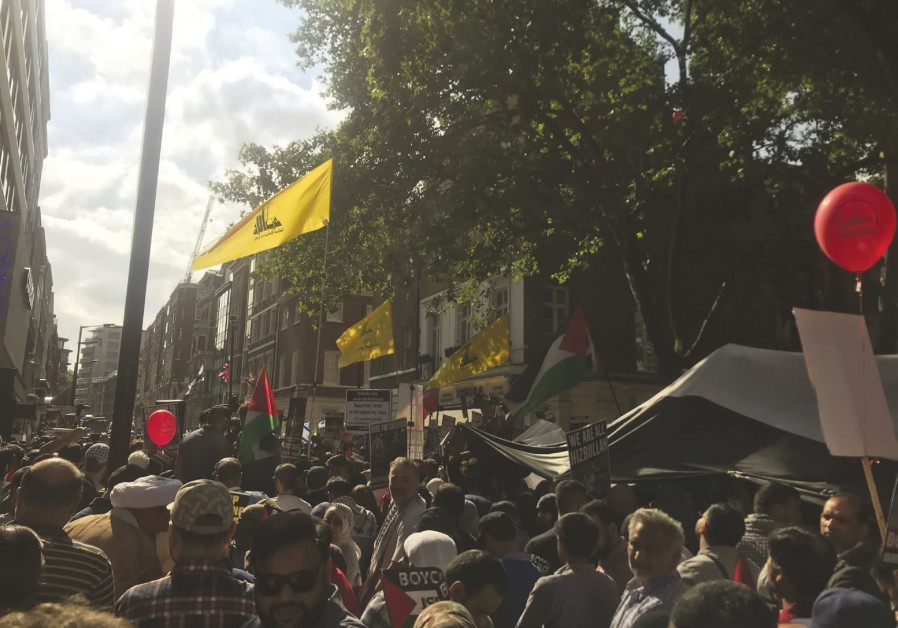 Hezbollah flags fly once again at London's Quds Day march