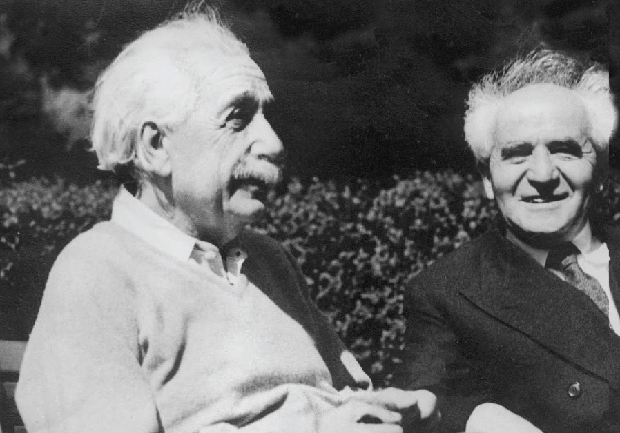 David Ben-Gurion meeting with Albert Einstein at Princeton University, in 1951