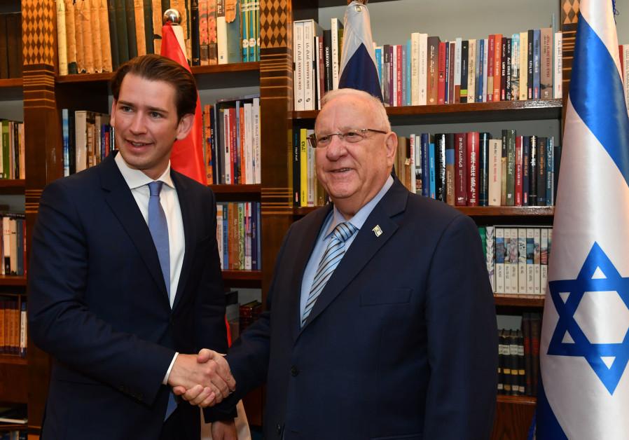 President Reuven Rivlin met with the Austrian Chancellor Sebastian Kurz on June 12, 2018