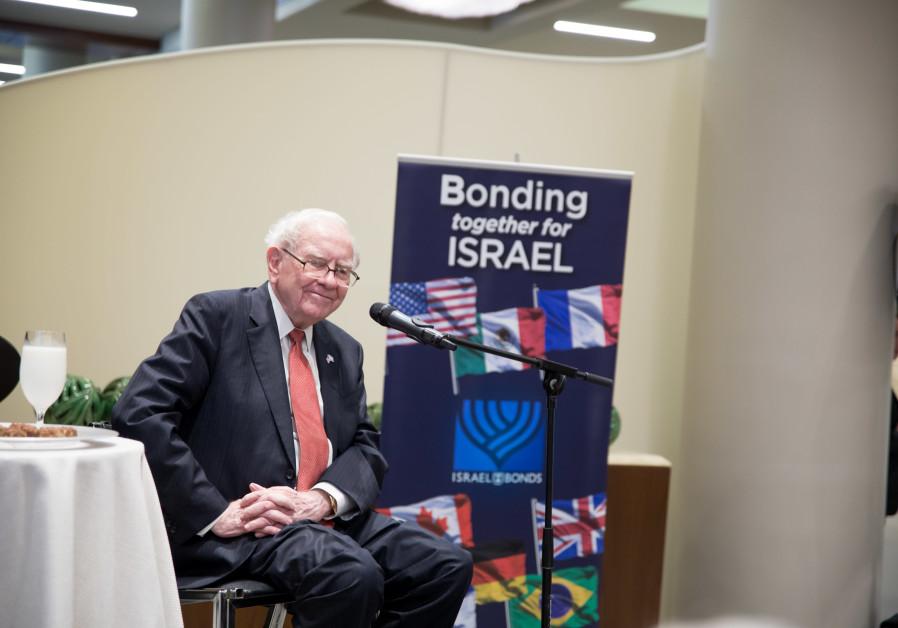 Warren Buffett event raises $80 million in Israel Bonds investment