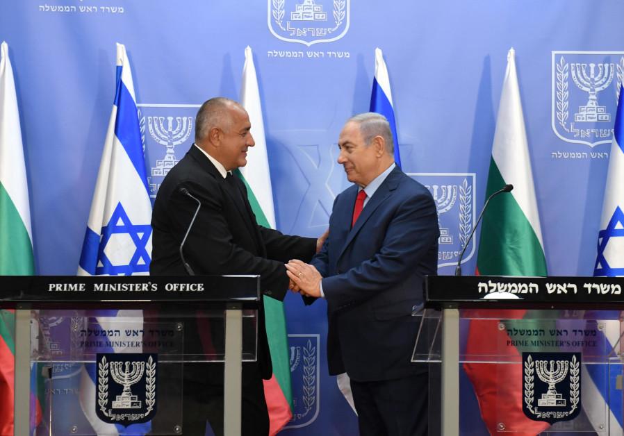 Prime Minister Benjamin Netanyahu meets with Bulgarian prime minister Boyko Borisov in Jerusalem on