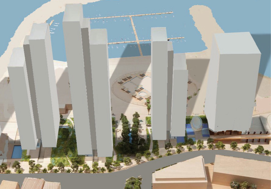 THE PLAN for the towers at Kikar Atarim