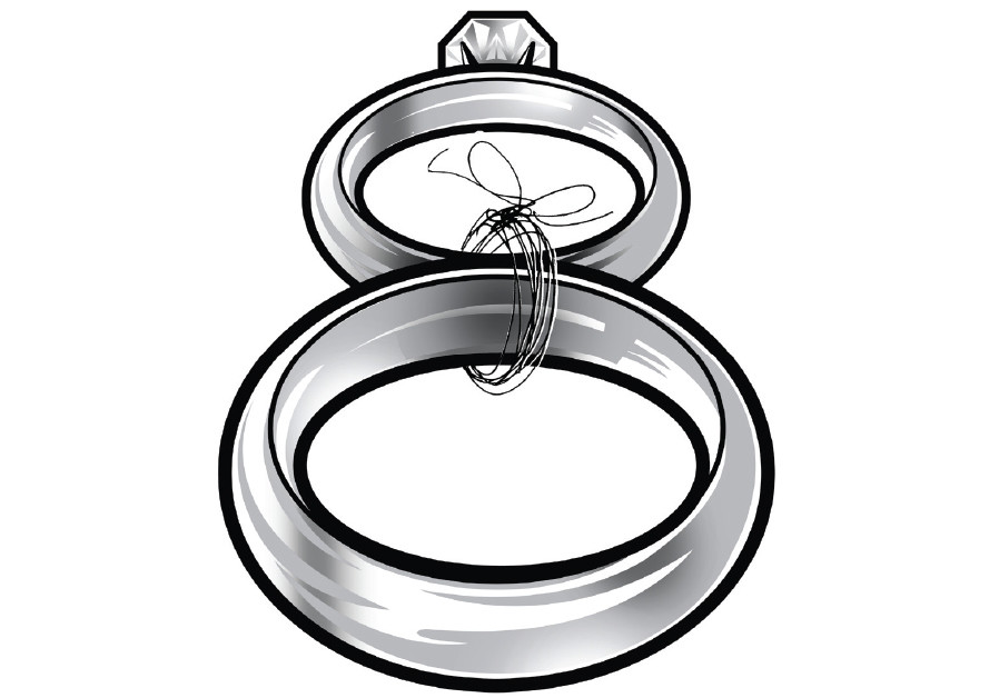 Illustrative photo of marriage rings
