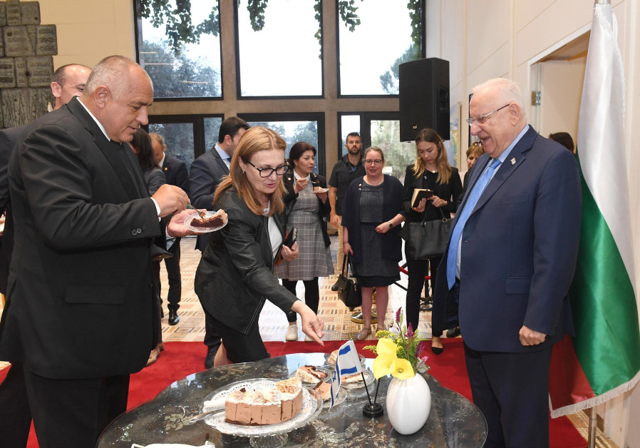 President Reuven Rivlin meets with Bulgarian prime minister Boyko Borisov in Jerusalem on Wednesday,
