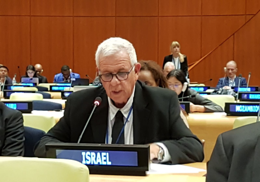 KKL-JNF's Aviram Zuk at the 13th UNFF in New York