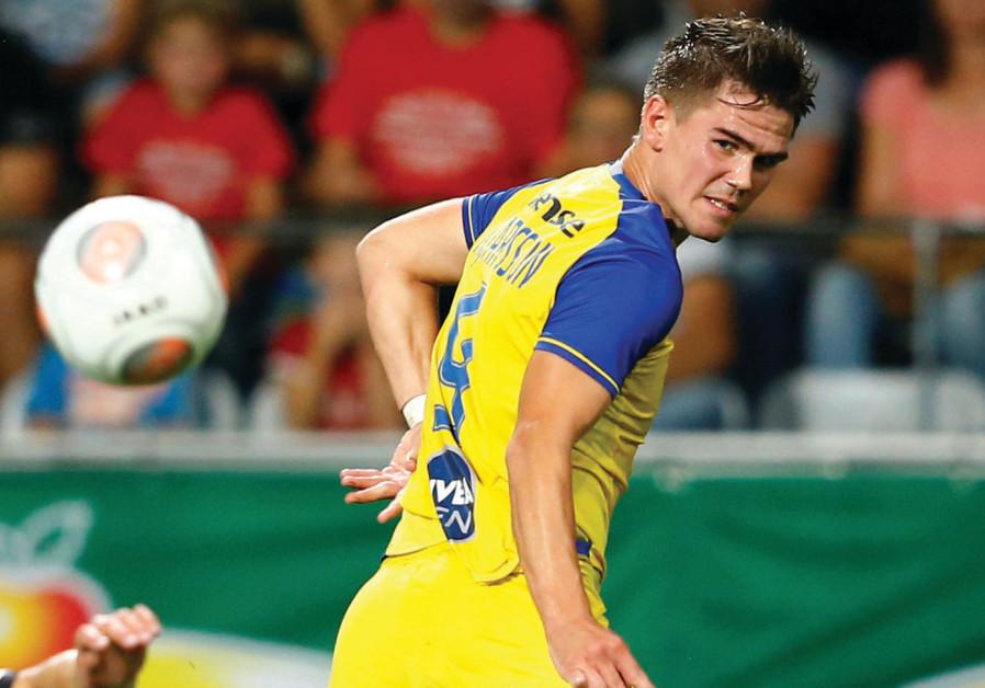 Iceland's Maccabi Tel Aviv forward Vidar Orn Kjartansson