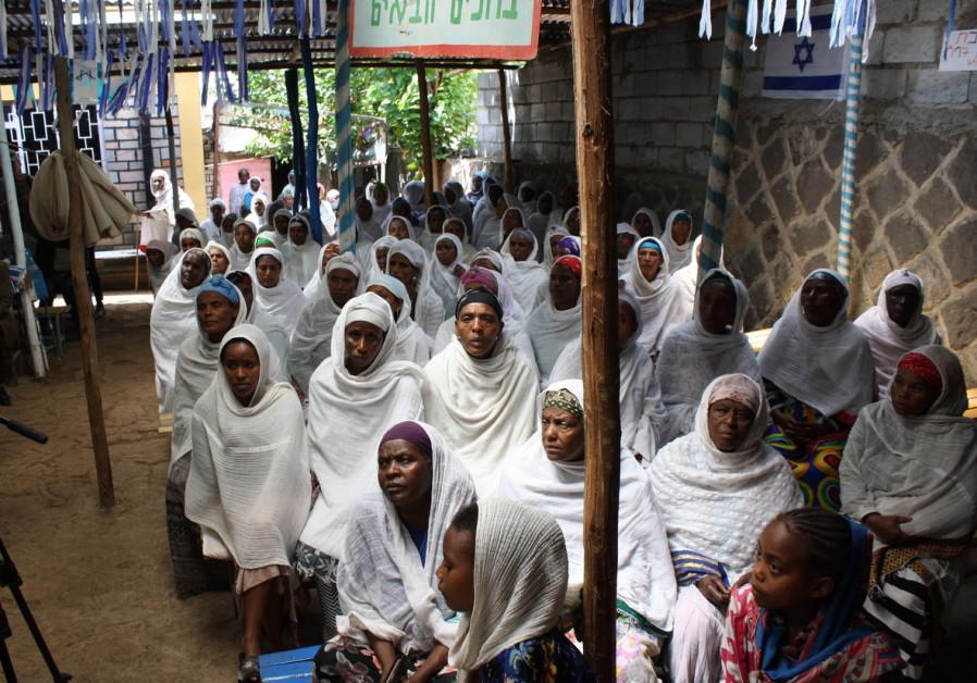 Members of the Falash Mura community in Ethiopia