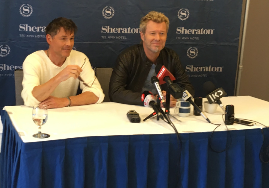 A-ha at a press conference in Tel Aviv on Tuesday, June 19, 2018
