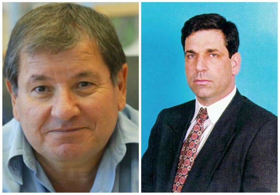 Former MKs Pini Badash (L) and Gonen Segev (R)