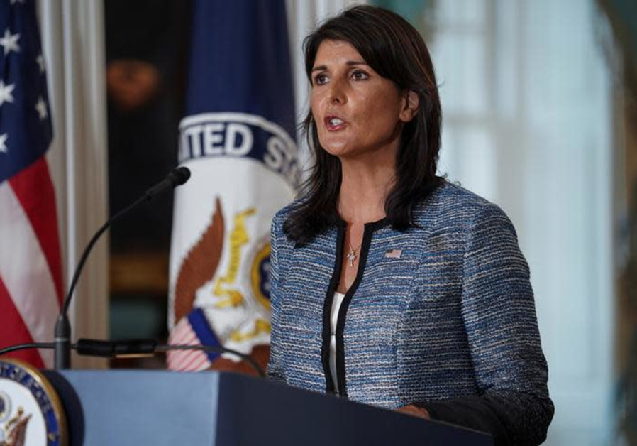 U.S. envoy Haley: Palestine is not any state at all