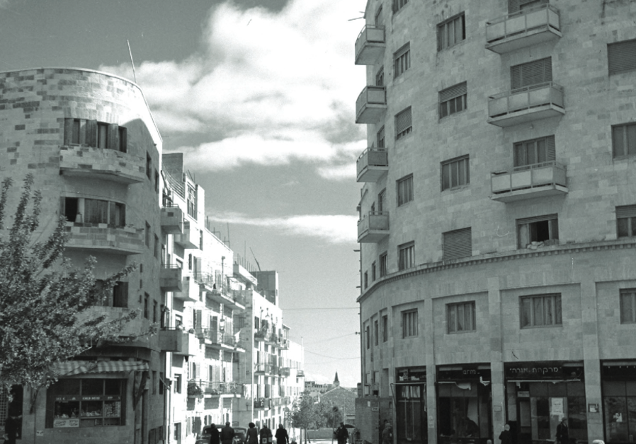 A VIEW of buildings on King George Avenue in Jerusalem in 1945