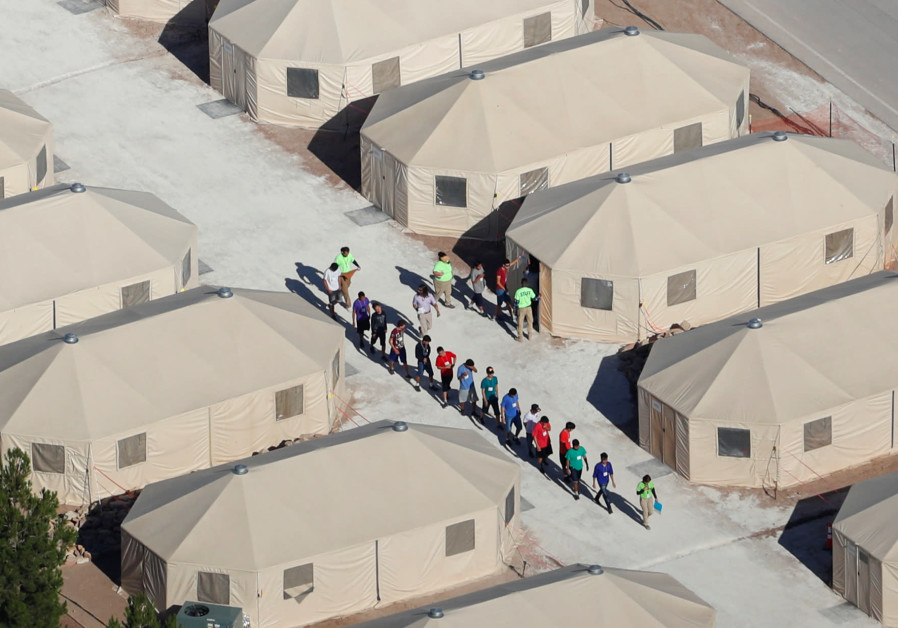 "Immigrant children, many of whom have been separated from their parents under a new ""zero tolerance"""