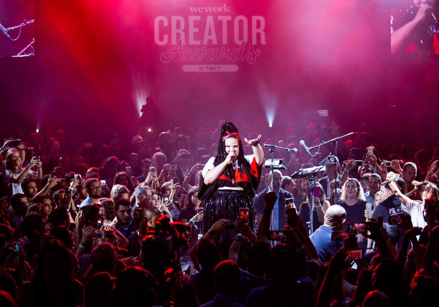 2018 Eurovision winner, Israeli Neta Barzilai, performed for the WeWork Creator Awards ceremony in J