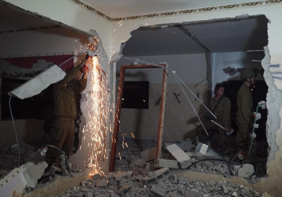 IDF forces demolish the home of a terrorist Alaa Kabha, June 21st, 2018