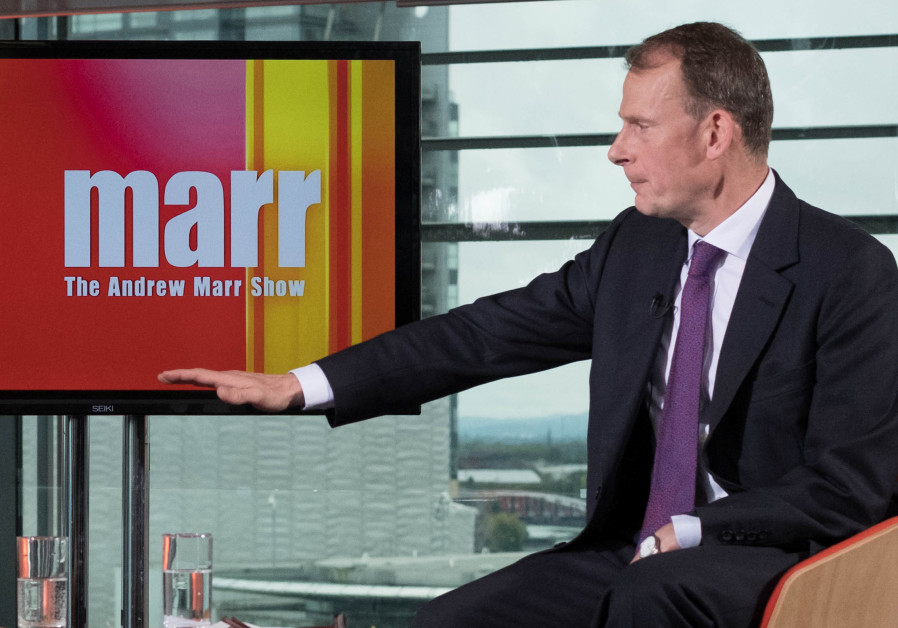 BBC's Andrew Marr Show, during the Conservative Party Conference, in Manchester, Britain, October 1,