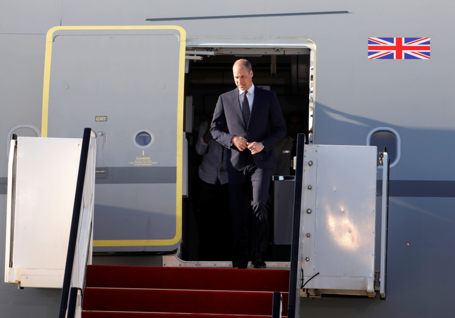 Prince William's royal visit to Israel kicks off