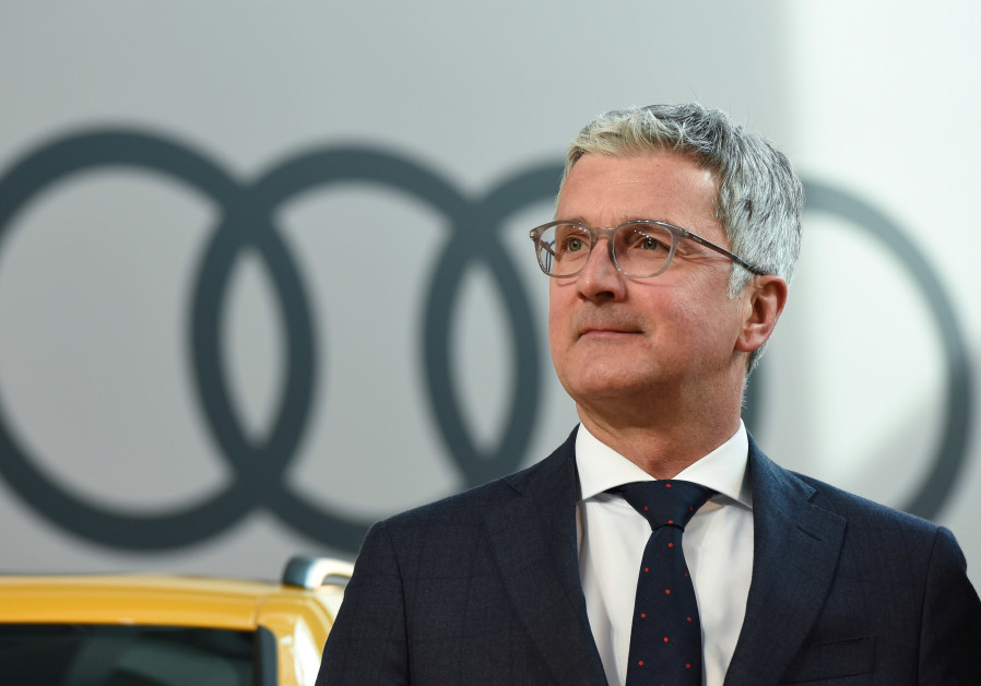 Audi CEO, Rupert Stadler arrives for the company's annual news conference in Ingolstadt, Germany, Ma