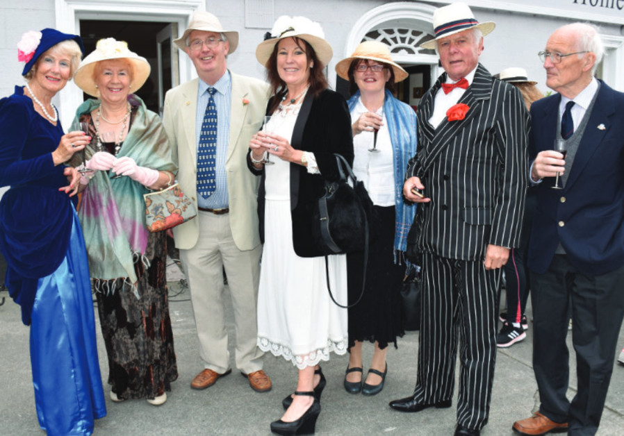 People celebrating Bloomsday in Dublin