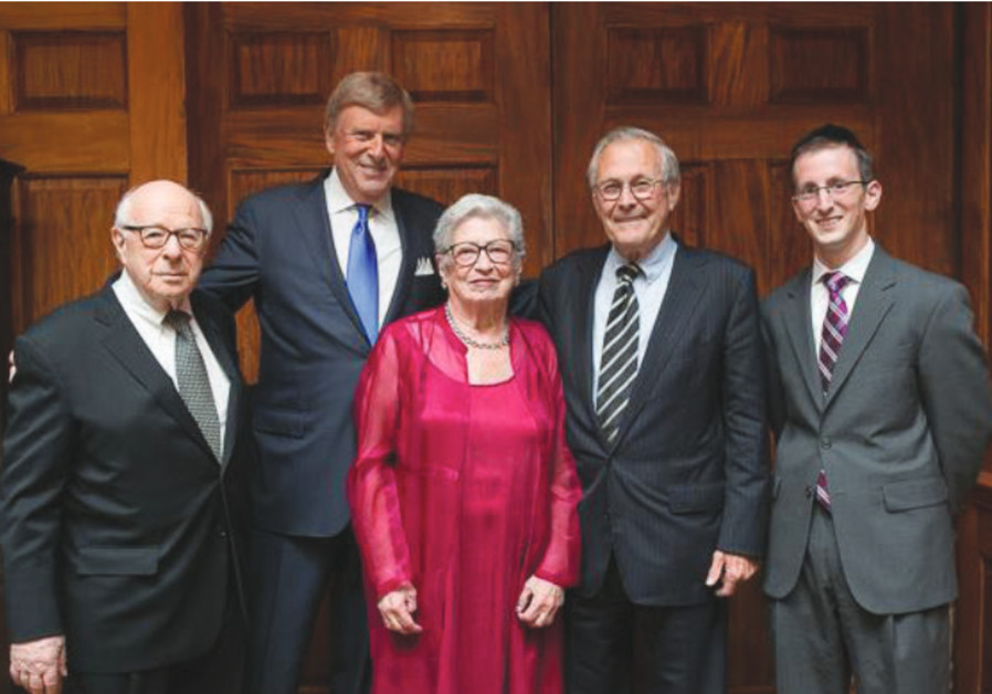 Norman Podhoretz, Herb London, Midge Decter, Donald Rumsfeld and Eli Gold