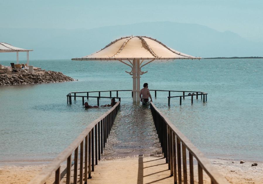 Swimming at the Dead Sea