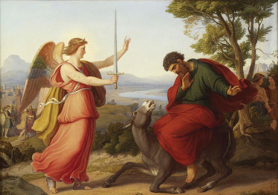 'BALAAM AND the Angel,' Gustav Jaeger, 1836.