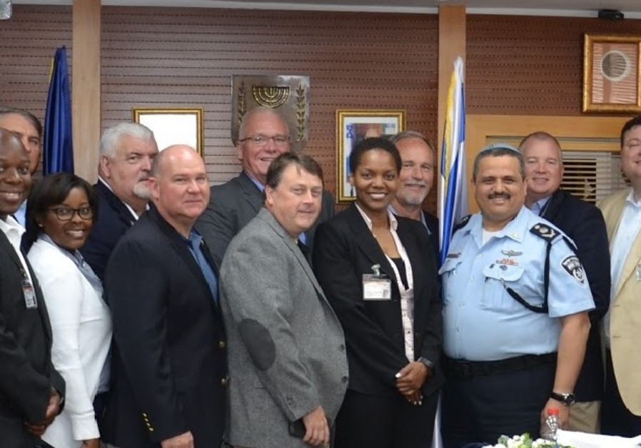 Israeli Police officers welcome Southern Police officers from the U.S