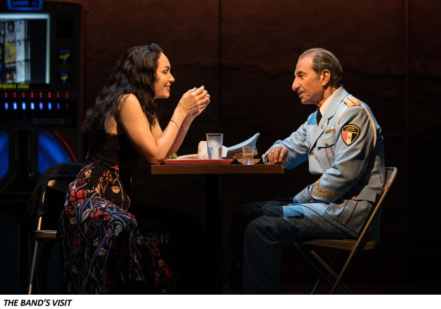 Sasson Gabay and Katrina Lenk in THE BAND'S VISIT, photo by Evan Zimmerman for MurphyMade 2018.