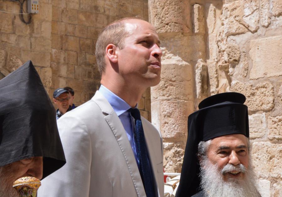 Prince William vists the Old City of Jerusalem, June 28, 2018