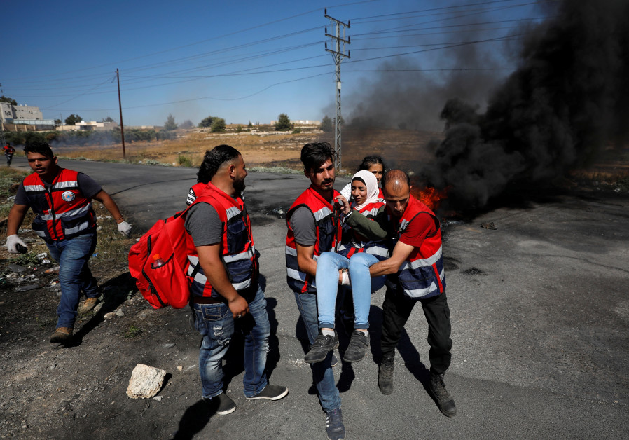 Report: Palestinians protests in Ramallah, Gaza security border