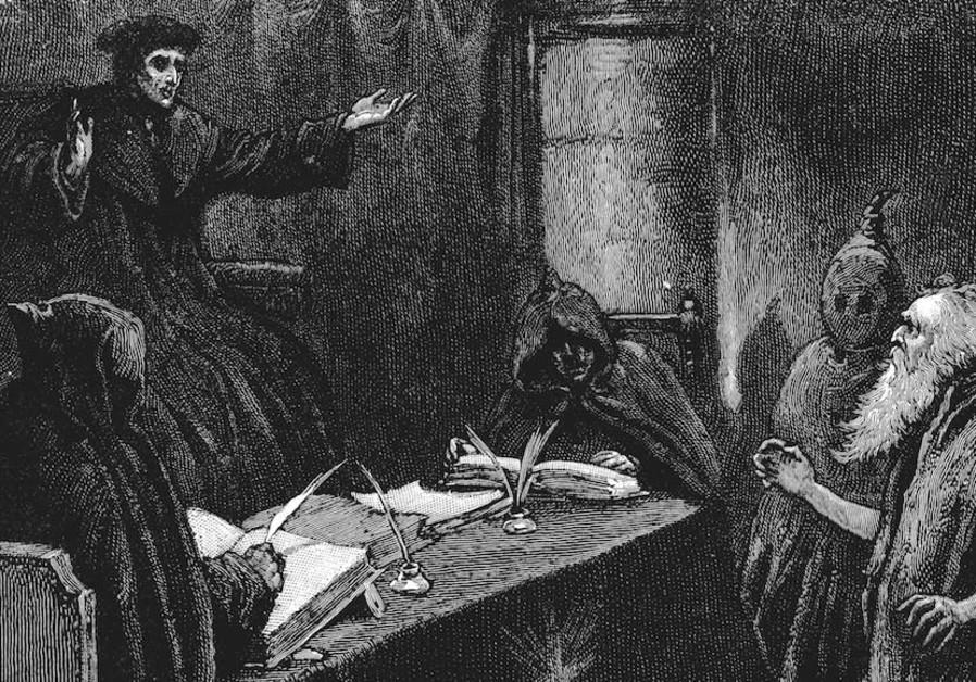 איור של יהודי ספרדי לפני אינקוויזיטור גדול