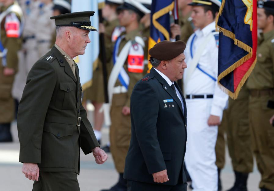 General Joseph Dunford, Chairman Joint Chiefs of Staff, and Israel CoS Lt. Gen. Gadi Eizenkot
