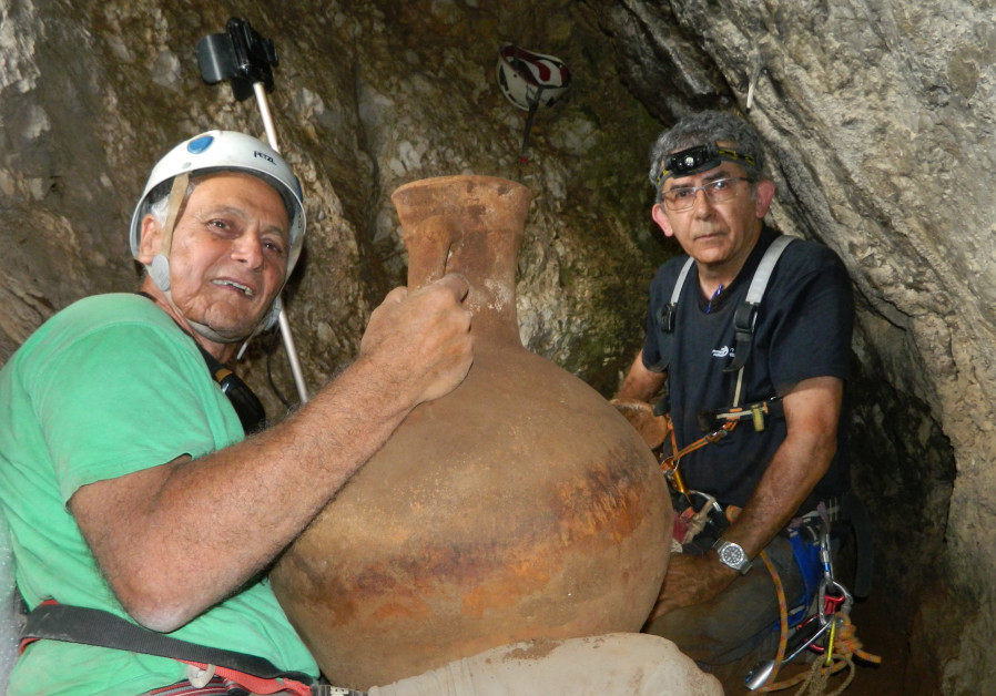 From on high - 2,000-year-old pottery discovered in a cave on a cliff