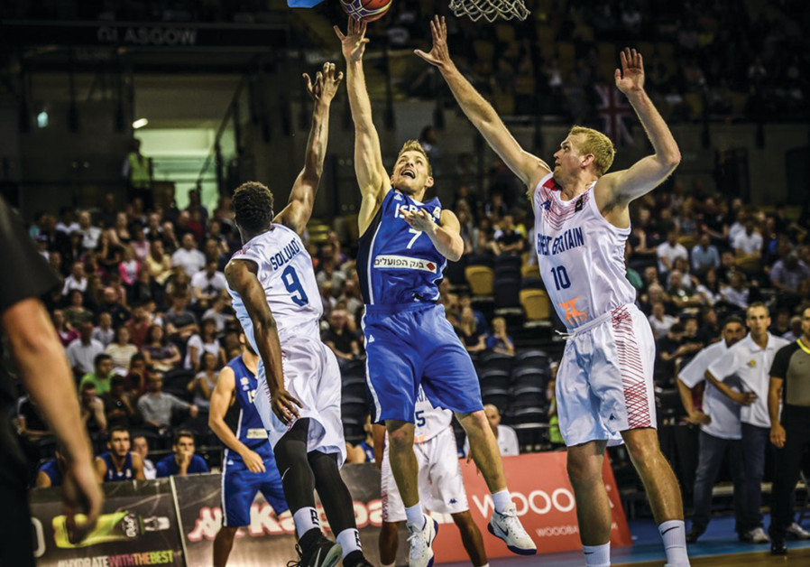 GAL MEKEL (7) helped propel Israel to a 67-59 victory over Great Britain on Monday night to earn a s