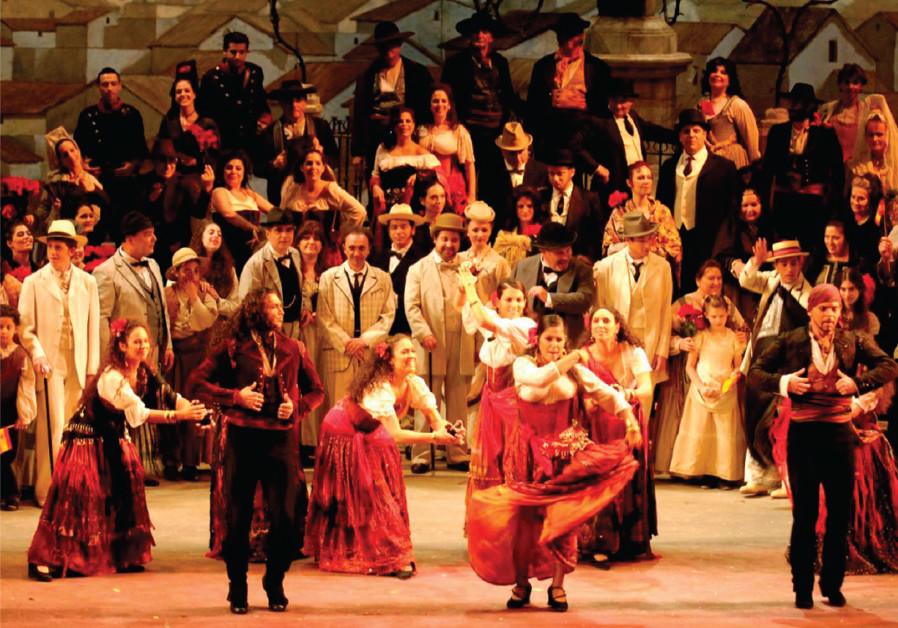 Bizet's Carmen performed at the Israeli Opera