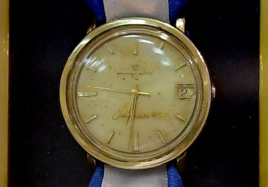 Recovered watch of Israeli spy Eli Cohen, July 5, 2018.