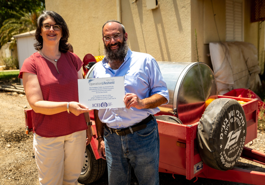 Firefighting trailer donated to Eshkol Regional Council by the International Christian Embassy