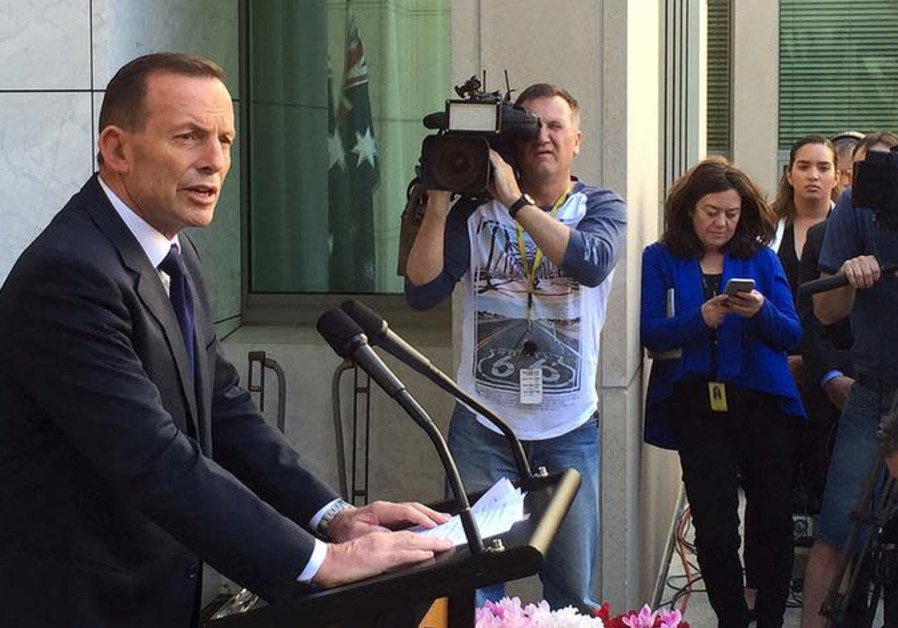 Former Australian Prime Minister Tony Abbott speaks to the media at Parliament House