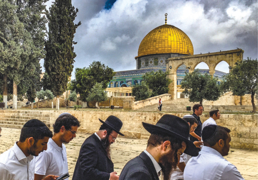 Orthodox Jews on the Temple Mount